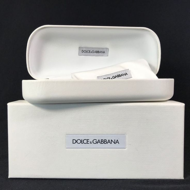DOLCE GABBANA Eyeglasses Sunglasses White Case w/Pouch ONLY | eBay