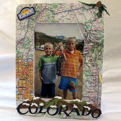 Vacation Map Picture Frame   Crafts   Spoonful