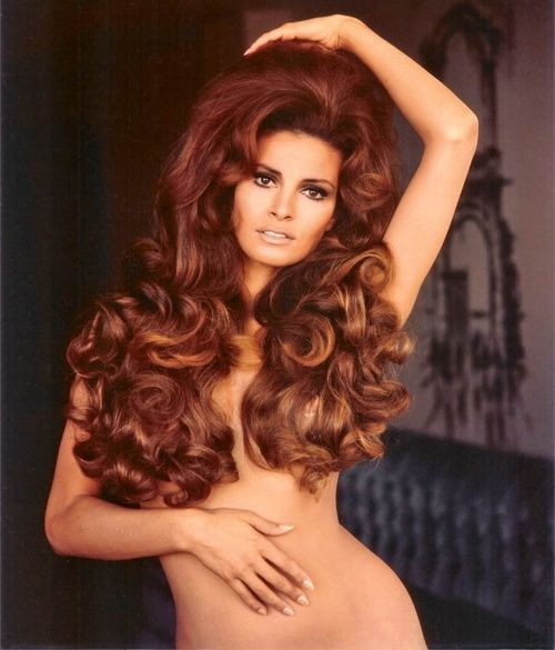 Raquel Welch. My honey will like that this is Raquel...I just want that hair!!!