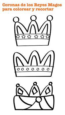 Early childhood craft, coronas de reyes magos para colorear y recortar, actividades para Educación Infantil