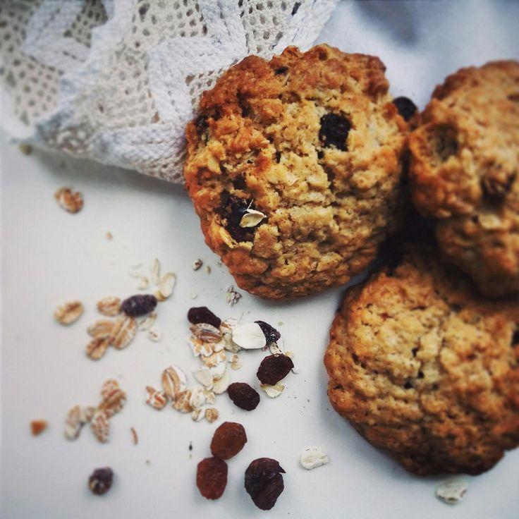 Мягкое овсяное печенье с изюмом (Chewy oatmeal raisin cookies)