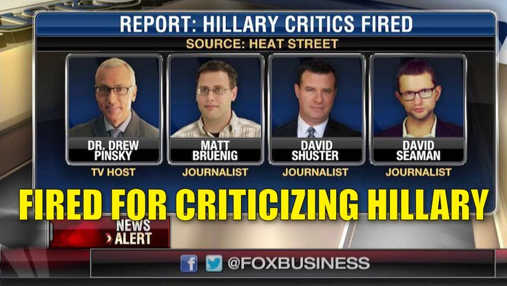 "The Hillary Clinton campaign has gone to great lengths to conceal her health issues. They tried to silence many of their critics by calling them ""crazy conspiracy theorists"" and others, who they could attack directly, have been fired from their jobs for EXPOSING Hillary's sickness or criticizing her in any way. Fox Business delves into the ""cover up"" and how Hillary's camp will do anything to keep their critics silenced and their secrets safe. Watch the video: Watch the latest video at <a…"