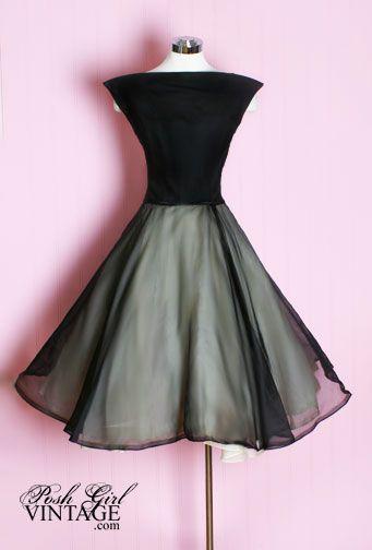1950's GlamEvening Dresses, Cocktails Dresses, 1950S, Parties Dresses, Audrey Hepburn, Vintage Parties, Little Black Dresses, 1950 S, 50S Dresses