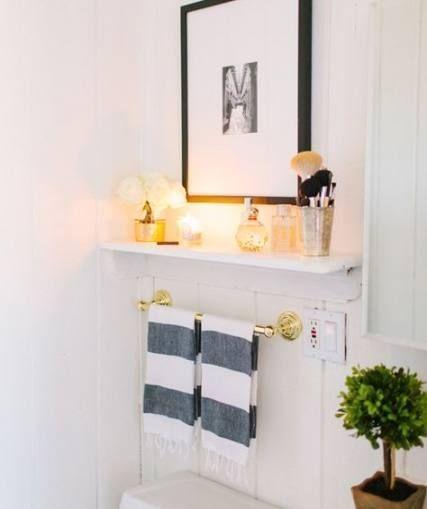 62 Trendy Bath Room Black And White Shelves Above Toilet   – Bath. – #bath #Blac…   – Einrichten