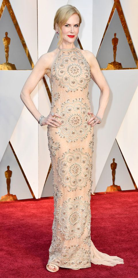 Everyone from Nicole Kidman to Charlize Theron wore gold and silver on the red carpet this year.