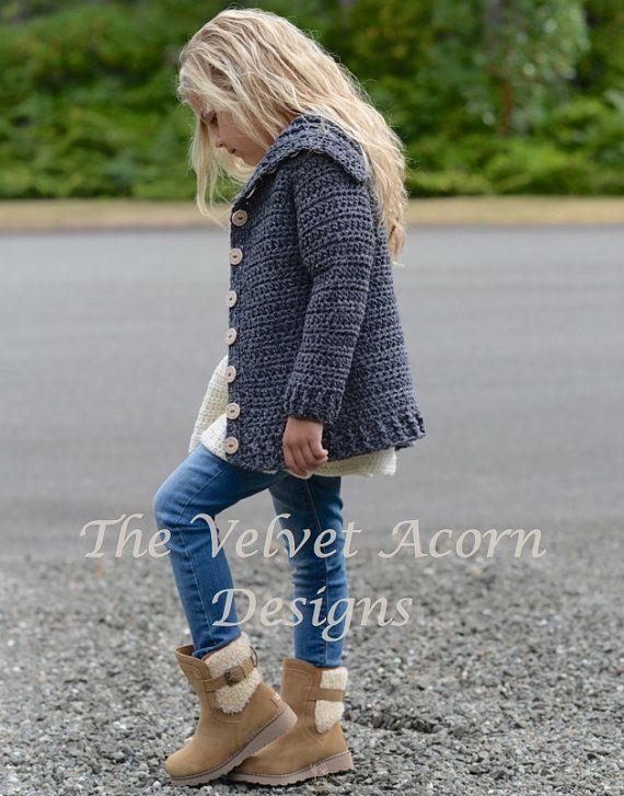 CROCHET PATTERN-The Breslin Sweater 2/3 4/5 6/7 por Thevelvetacorn