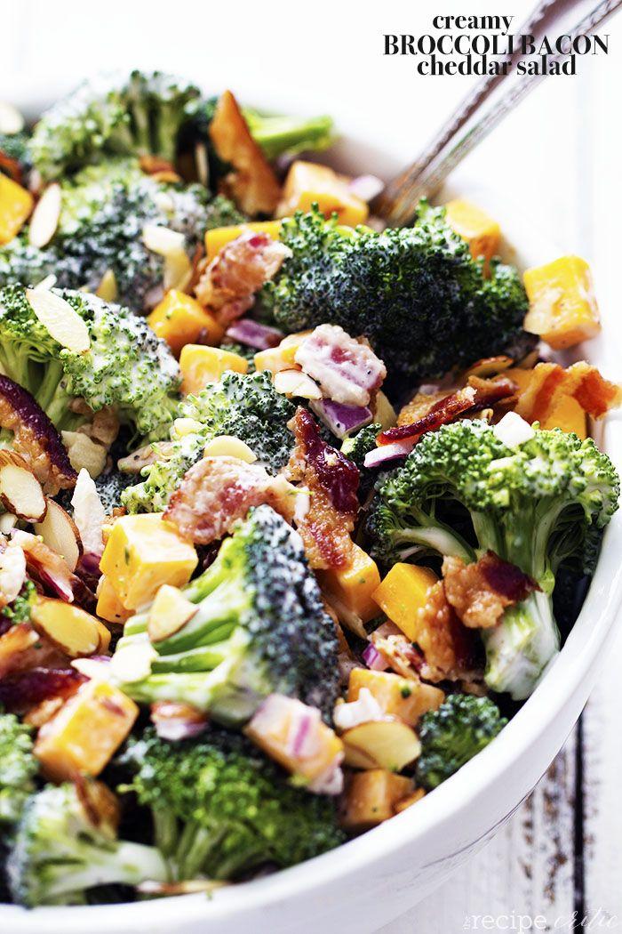 Creamy Broccoli Bacon and Cheddar Salad FoodBlogs.com