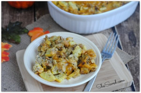 I love this easy Baked Squash Recipe for a side dish. It's perfect for a relaxed family dinner and fancy enough to serve on Thanksgiving. Yum!