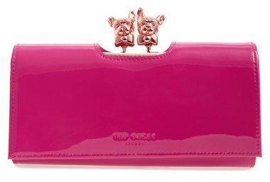 Ted Baker London 'Bulldog - Karrine' Patent Leather Wallet