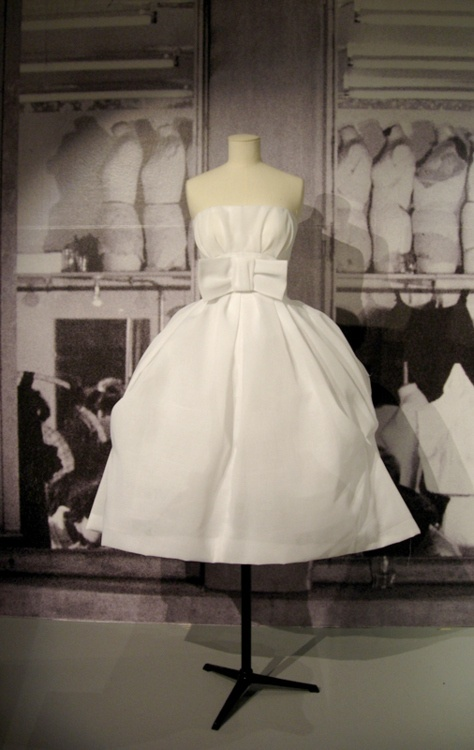 ~1950's Christian  Dior White Bow Party Dress~