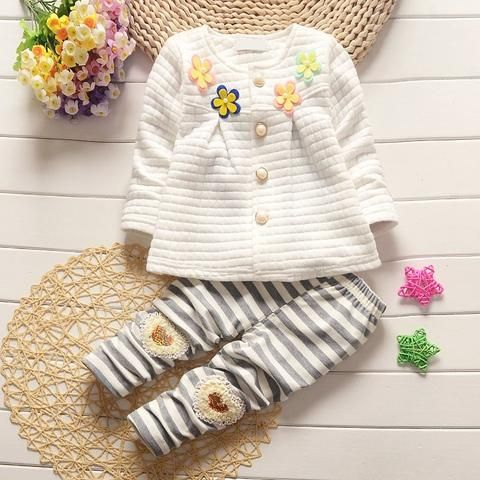 4c85939da07f Baby Girl Clothes Spring Autumn Floral Full Sleeved Cardigan Jacket ...