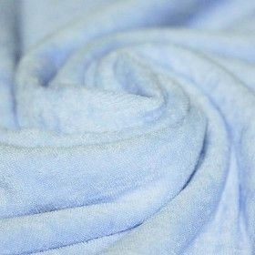 Frottee Stoff Stretch Hellblau