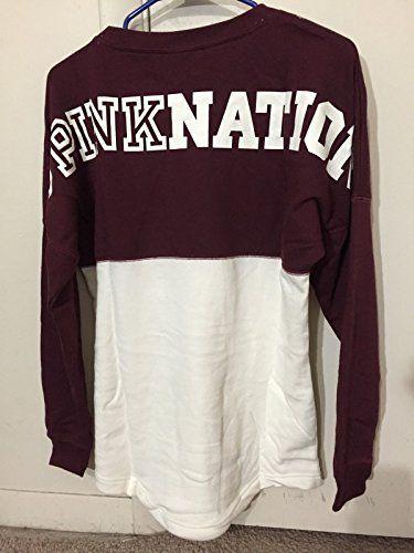 Victoria's Secret PINK NATION Varsity Sweatshirt Crew Neck Pullover www.fashionistaideas.com/blog/victorias-secret-pink-nation-varsity-sweatshirt-crew-neck-pullover/