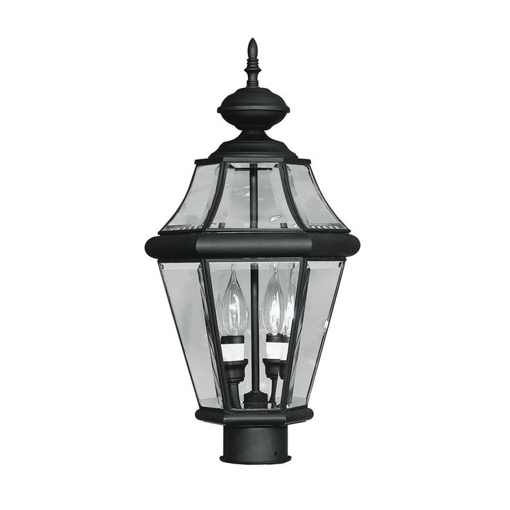 Shop Livex Lighting 2264 0 Georgetown 2 Light Small Post Mount Light At Lowe S Canada Outdoor