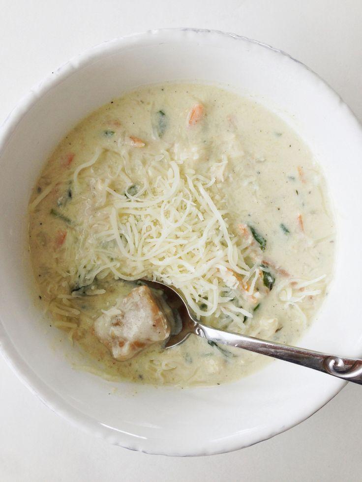 Skinny Chicken & Pumpkin Gnocchi Soup