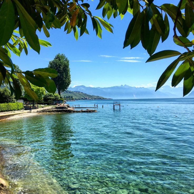 "southernclass: ""Lake Geneva - Pully, Lausanne, Switzerland - 8/4/16 """