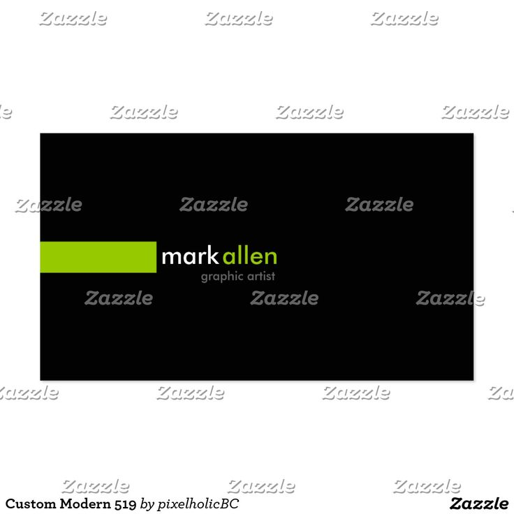 A simple modern design sometimes makes the best impression. These business cards features an sylish green line with your name in a matching color combination along with your job title. Easily customize your personal information in an easy to use template to create a  one of a kind business card. #entrepreneur #office #trendy #cards