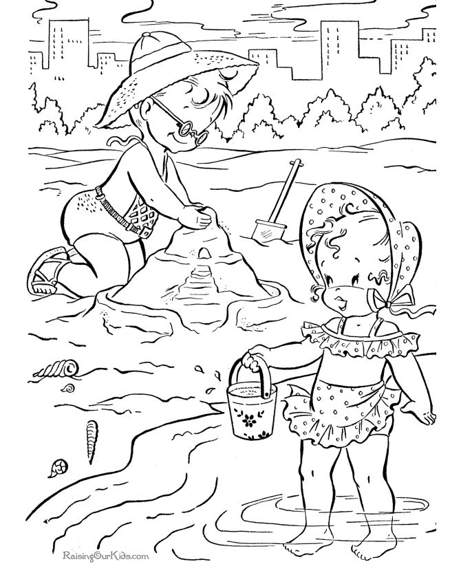 Beach Wedding Coloring Pages