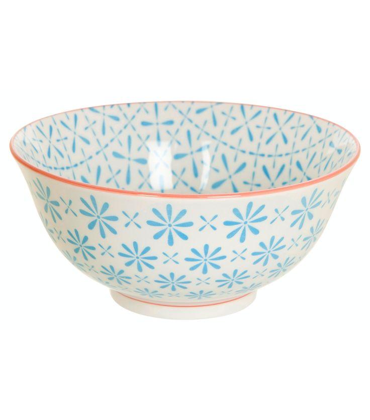 blue and white bowl M - V&D