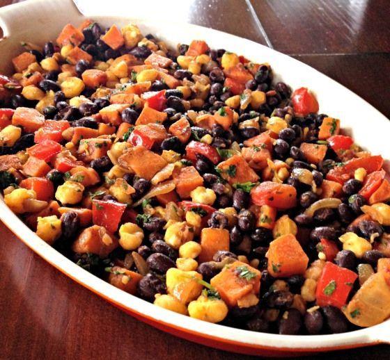 Tacos végétaliens aux fèves noires et patates douces - MyCookDiary