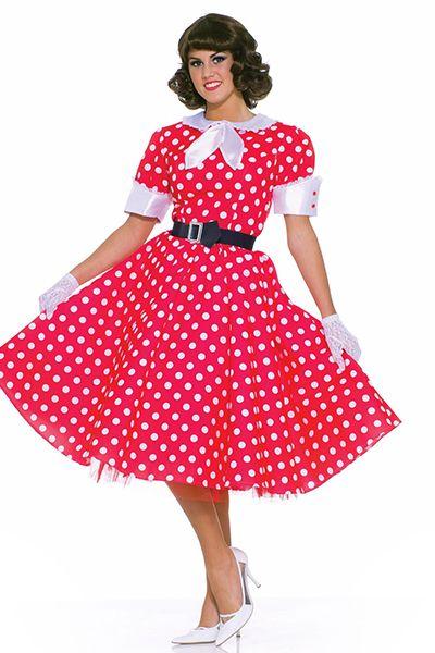 Платья в стиле 50-х годов – буйство красок и фасонов