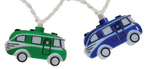Retro VW Bus Camper Party String Lights, 8-Feet