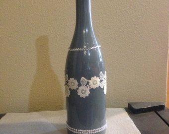 Amor decoración de la botella de vino envuelta por FindALittleDream
