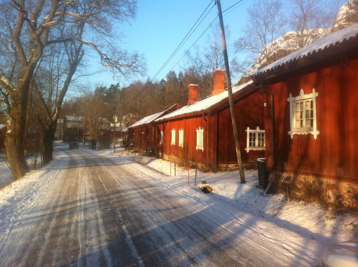 Billnäs village in Raseborg, Finland