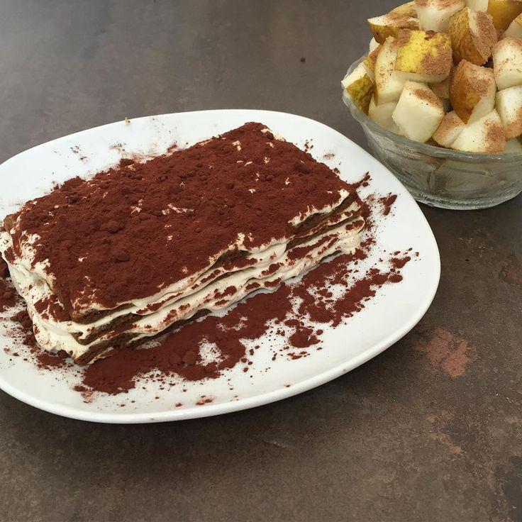 Fake Tiramisù made with wasa fibres, cocoa, Fage 0%
