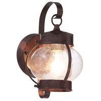 Old Bronze Outdoor Wall Mount Lantern Exterior Porch Patio Lamp Lighting Fixture