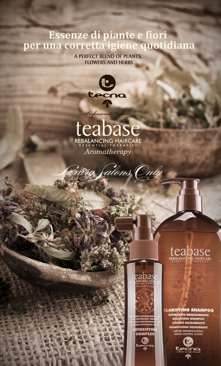 Teabase is a aromatherapeutic range formulated with 12 Essential Oils and 8 antioxidant vitamins which rebalance and tone scalp by hair eliminating all main scalp irregularities and providing lustre and body.  #scalptreatment #hairteatment #tecnahaircare