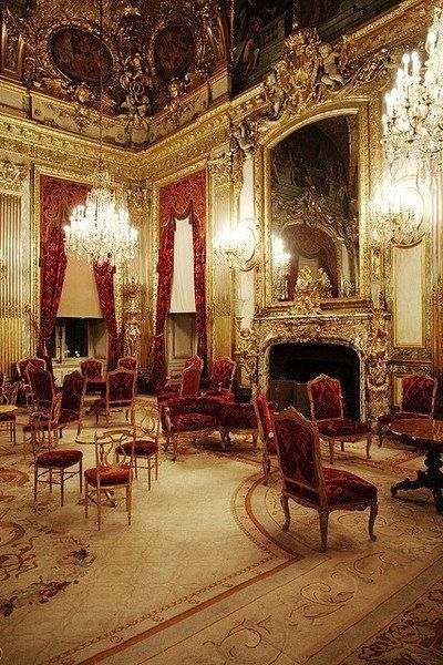 NAPOLEON III's apartment at the Louvre Museum.