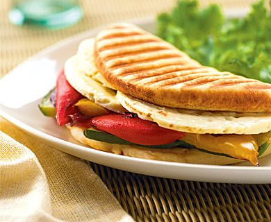 Grilled Vegetable and Feta Panini with Tre Stelle® Feta #brunch #feta #recipe