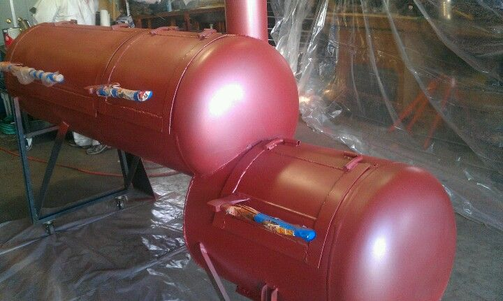 Getting ready for paint. Reverse flow smoker