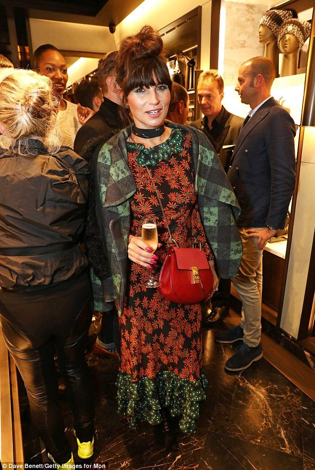 Quirky: Stylist Grace Woodward was clad in a bold and bright mix of patterns...