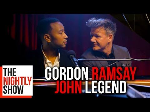 """You put so much oil in this, the US wanted to invade the f**king plate!"" - so beautiful that it brings a tear to the eye. John Legend & Chef Ramsay duet for..."