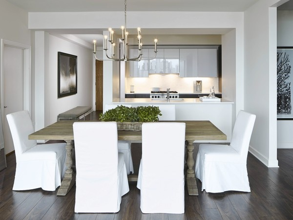 The White Nest Model Unit At The Grant High Rise In Chicago Is Filled With