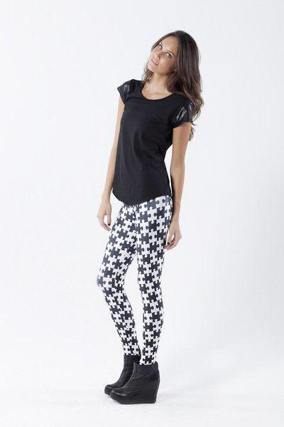 Jigsaw Leggings › Black Milk Clothing