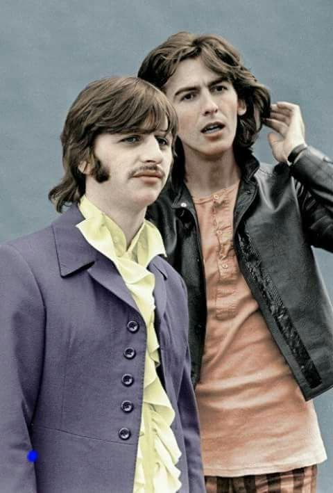 GEORGE AND RINGO WERE SO CLOSE.  I LOVE THEM BOTH!  ALWAYS HAVE!