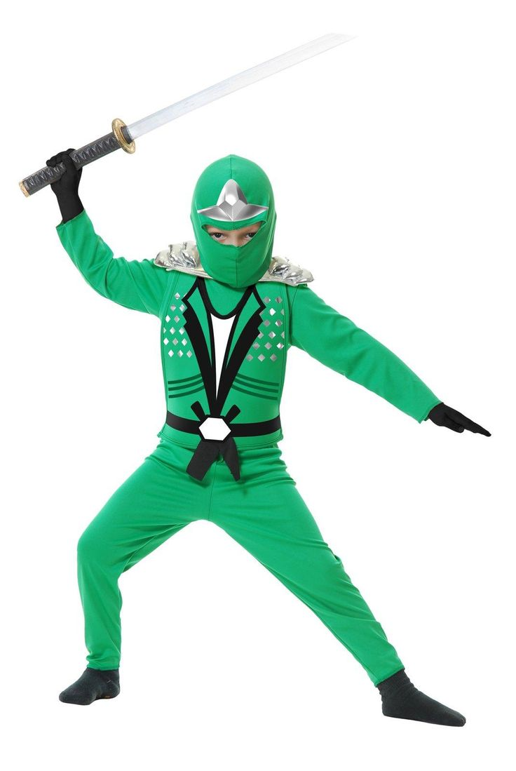 Green Ninja Avengers Series II Child Costume from @buycostumes #OrangeTuesday #Ad  True story:  our 5 YO said, 'daddy, is that you?', when he saw the Green Ninja.  Apparently I roam the house in constant attack pose.