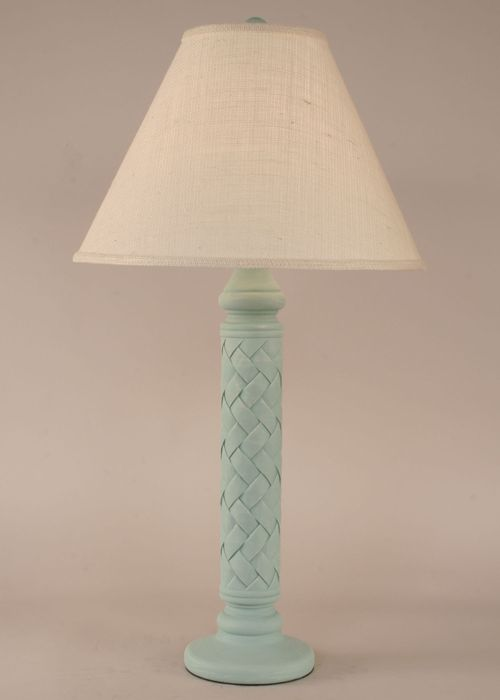 Weathered Atlantic Grey Basket Weave Table Lamp