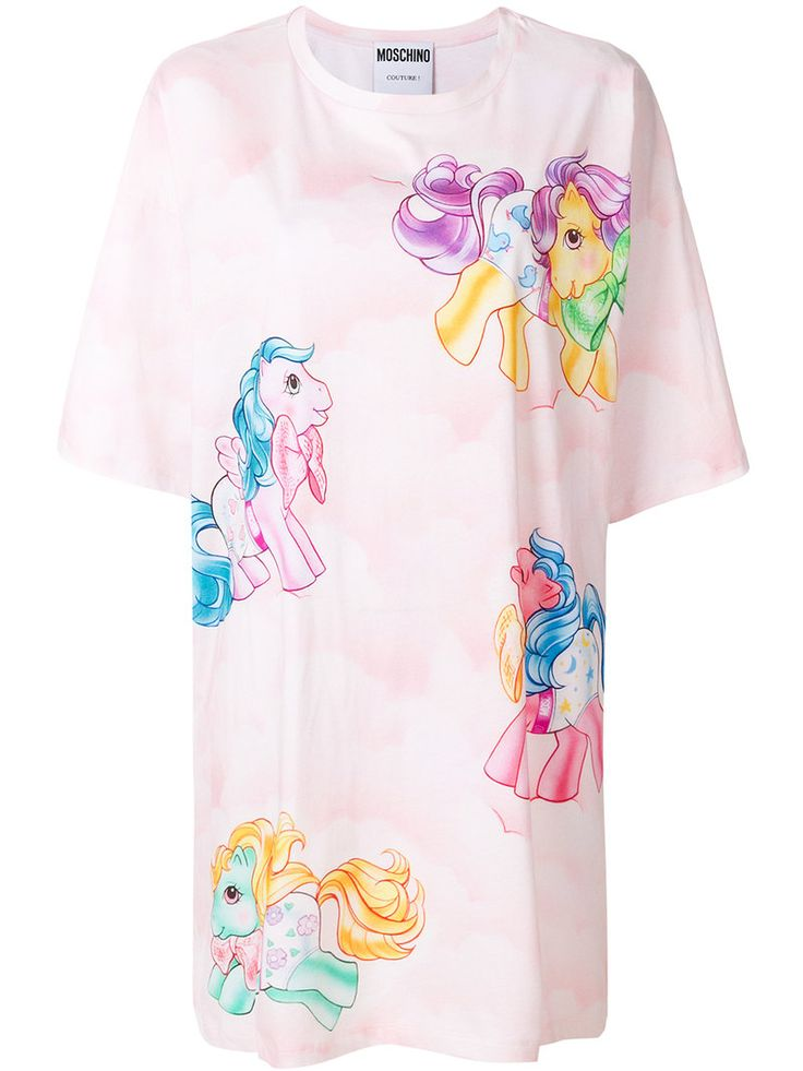 MOSCHINO MY LITTLE PONY T-SHIRT DRESS. #moschino #cloth #