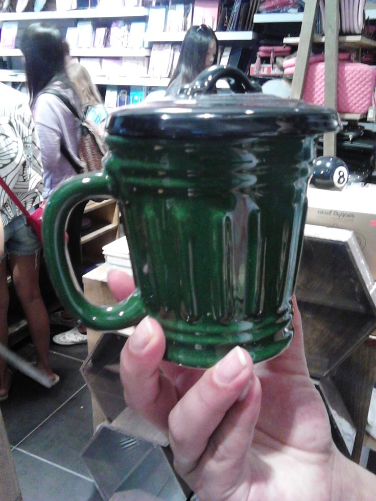 Trash cup...for people that like to drink out of the garbage....