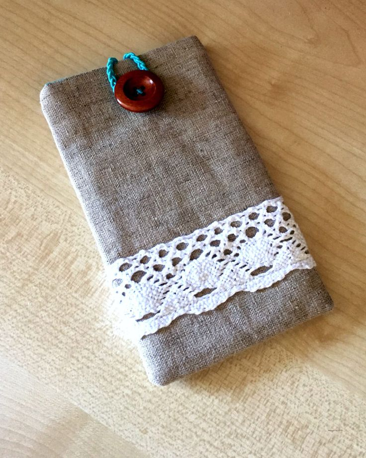 A personal favourite from my Etsy shop https://www.etsy.com/uk/listing/543005603/linen-lace-mobile-phone-case-mobile