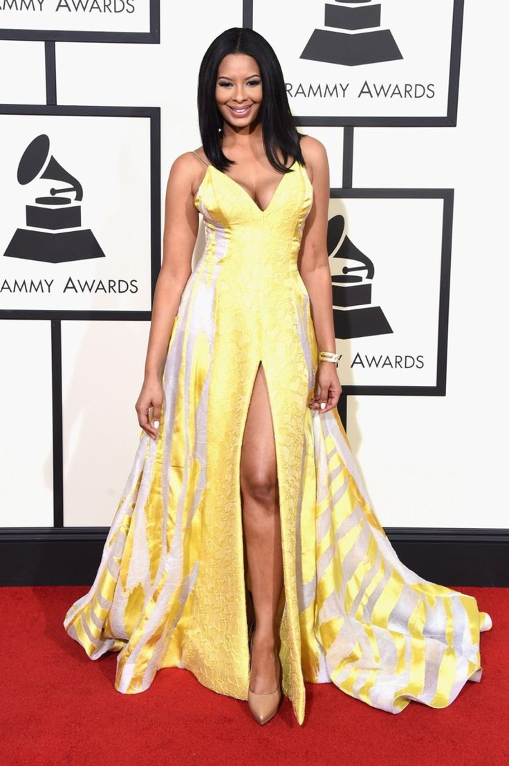TV personality Vanessa Simmons was mellow in yellow as she arrived to the 58th Annual Grammy Awards on Feb. 15, 2016.