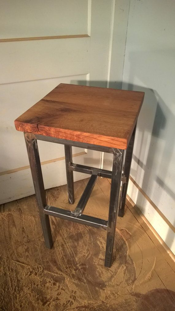 This stool is made from reclaimed barn lumber and a welded frame. The pictured barstool & 449 best Bar Stools images on Pinterest | Bar stools Factories ... islam-shia.org