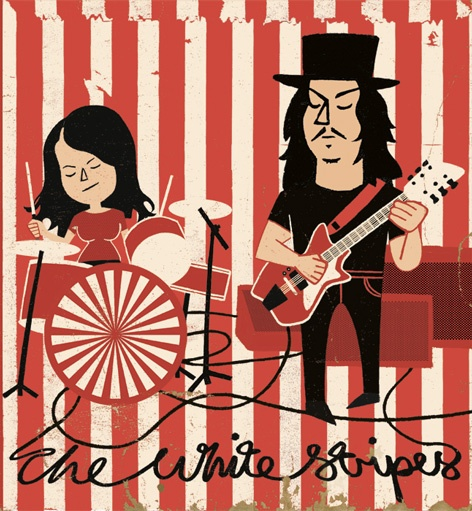 the white stripes; jack white; meg white