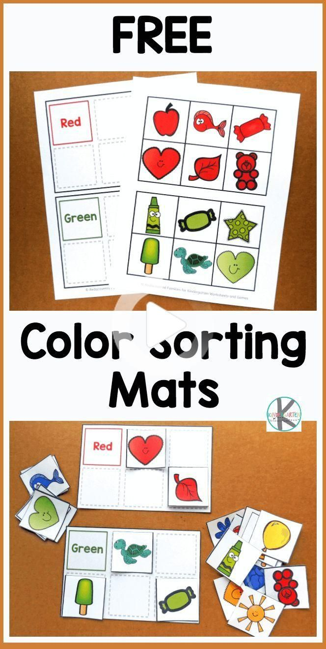 Free Color Sorting Mats Kids Will Have Fun Practicing Identifying Major Colors With These Free Preschool Printables Preschool Color Activities Free Preschool [ 1320 x 664 Pixel ]