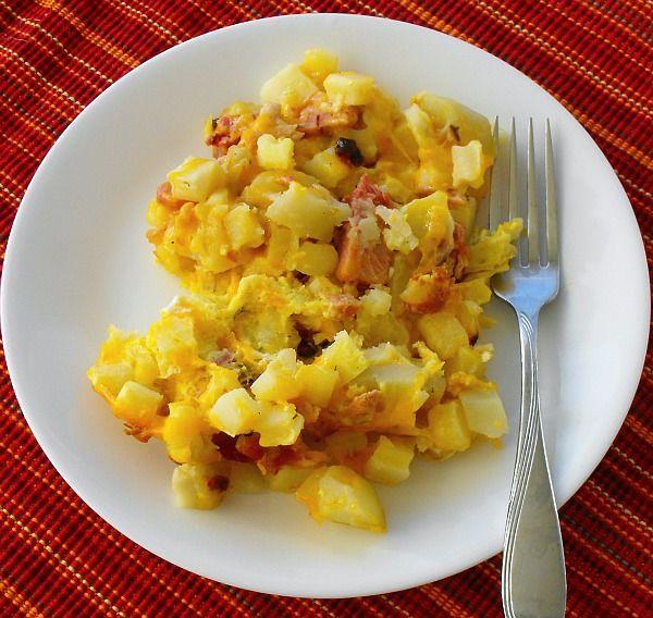 Breakfast Potato and Ham Casserole   My favorites   Pinterest