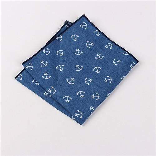 e0c2914c8c2f Suits Cotton Flower Handkerchiefs For Mens Fish Pocket Square Striped Hankies  Floral Business Pocket Towel Hanky